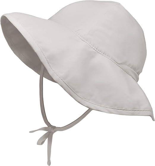 Sombrero de ala con protecci/ón solar color gris i play 9-18 meses
