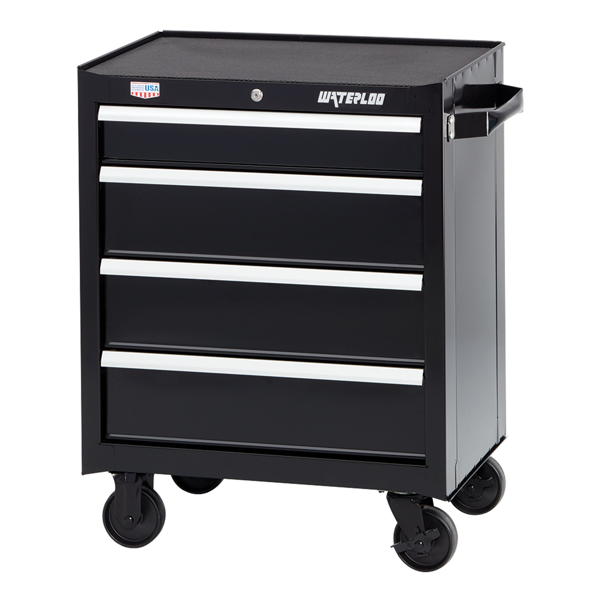 Waterloo W300 Series 4-Drawer Rolling Tool Cabinet, 26'' - Designed, Engineered & Assembled In the USA by Waterloo