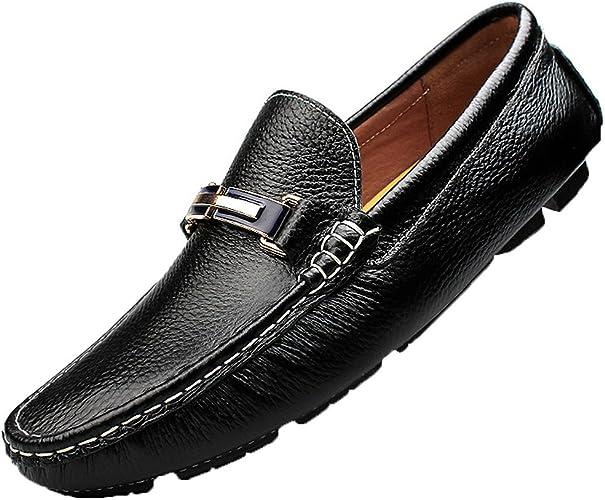 cheaper buy popular new lifestyle Amazon.com | rismart Men's Slip on Casual Fashion Genuine Leather ...