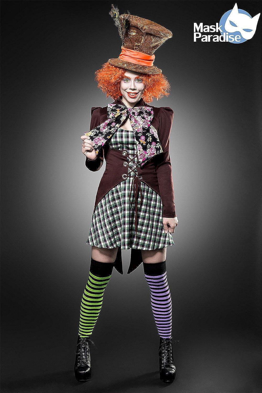Mask Paradise Hutmacher Girl, Kostümset für Damen Braun