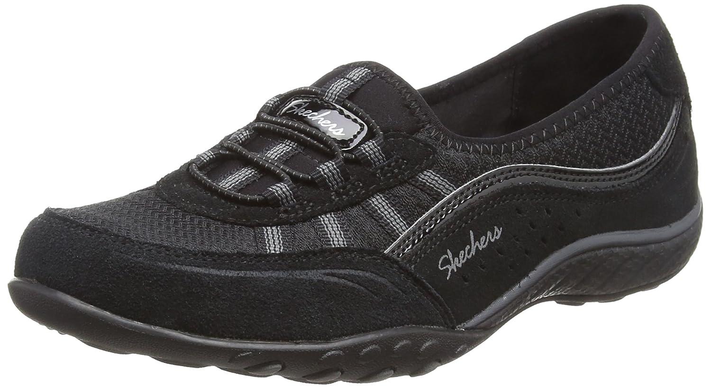 Skechers Breathe-Easy-Songlike, Zapatillas para Mujer 37.5 EU|Negro (Black)