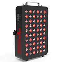 Red Light Therapy Device by Bestqool, 660&850nm Near Infrared Led Light Therapy with Timer, 60 LEDs, Clinical Grade Home Use Light Therapy Lamp for Anti-Aging, Pain Relief