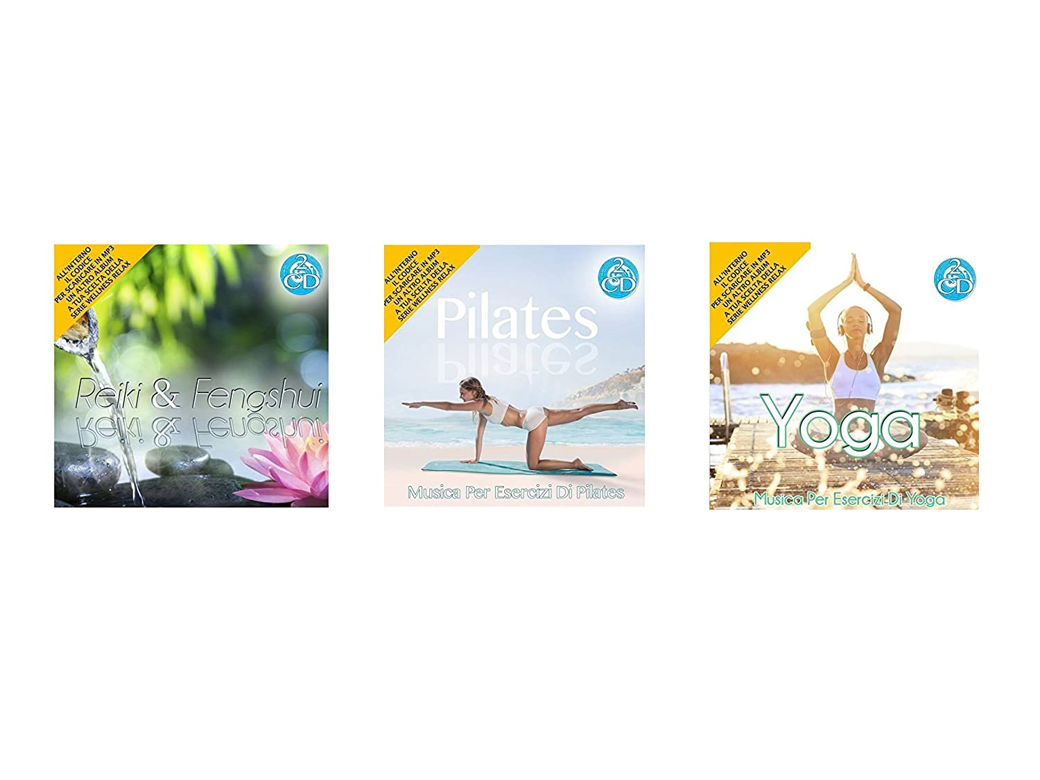 Oferta especial 3 Cd Doppio Della Serie Wellness Relax, Reiki e Feng Shui, Pilates, Yoga Musica Rilassante Special offer Series Wellness Reiki and ...