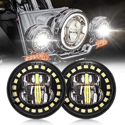4.5 Inch Harley Fog Light Passing Auxiliary CREE Led Spot Lamp Compatible with Harley 4-1/2 Inch Round Spot Lights - DOT Compliant: Automotive