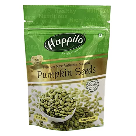 Happilo Premium Raw Authentic and All Natural Pumpkin Seeds, 200g (Pack of 2)