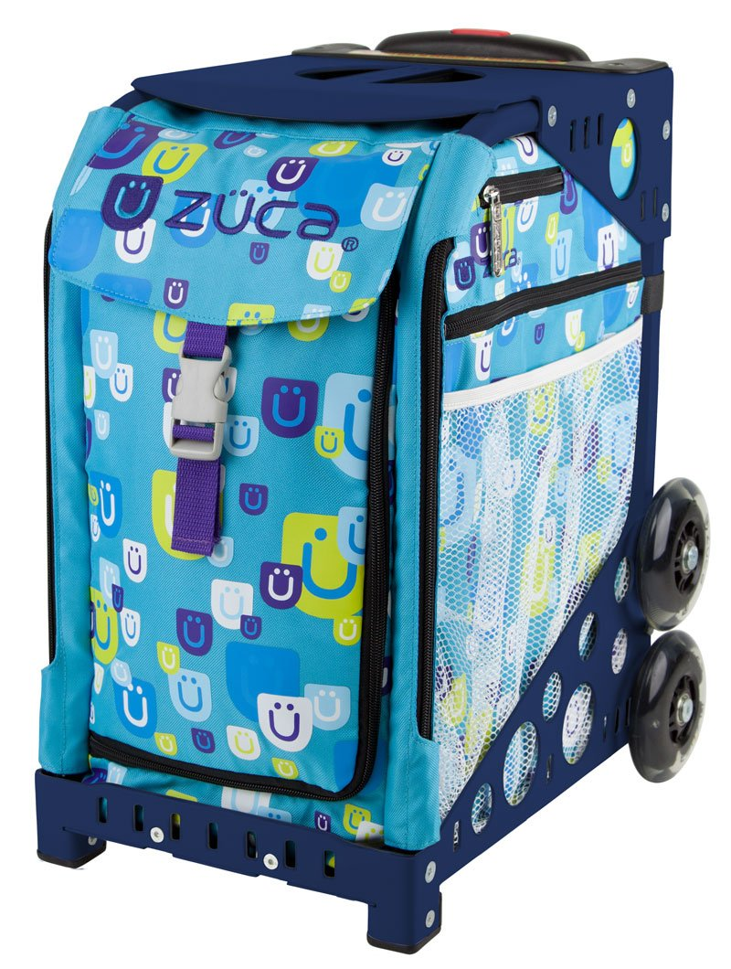 Zuca Be Zappy Sport Insert Bag and Navy Blue Frame with Flashing Wheels by ZUCA