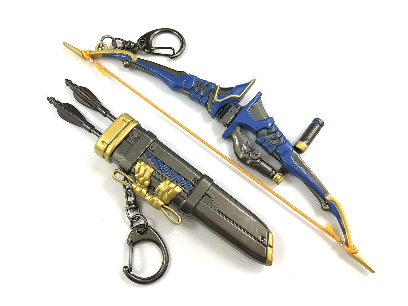 Brdwn Unisex Cosplay Shooting Games Hanzo Model Key Ring Chian Accessories Set,One Size,Hanzo Blue&Arrow case