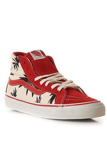 38aeb2d9a7 Vans OG Sk8 Hi LX Sneaker palm leaf black red 44