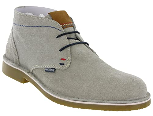 Mens Lambretta Lace Up Rounded Toe Suede Soft Leather Desert Boots Brighton