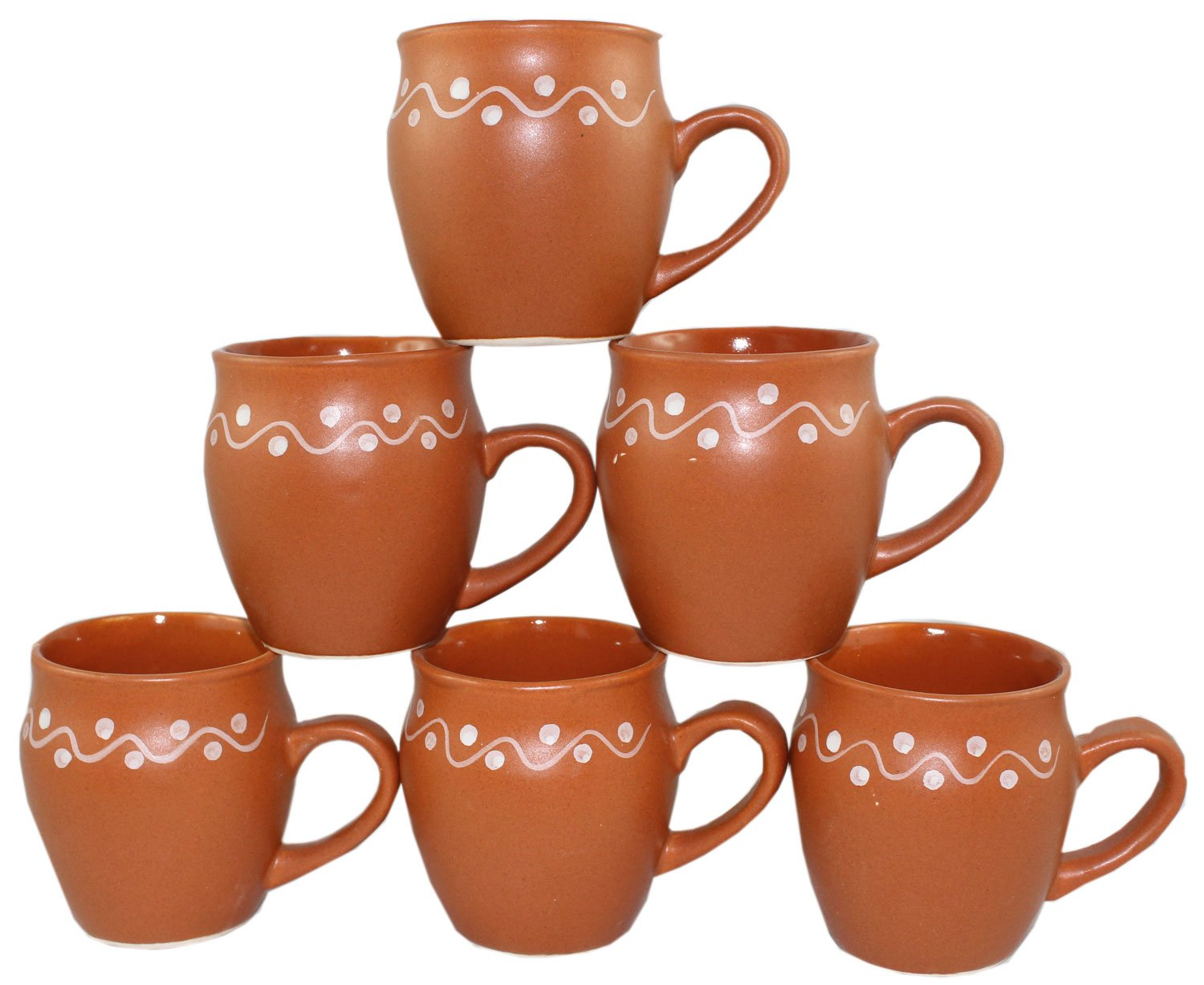 Odishabazaar Kulhar Kulhad Cups Traditional Indian Chai Tea Cup Set of 6 Tea Mug Coffee Mug by Odishabazaar (Image #1)