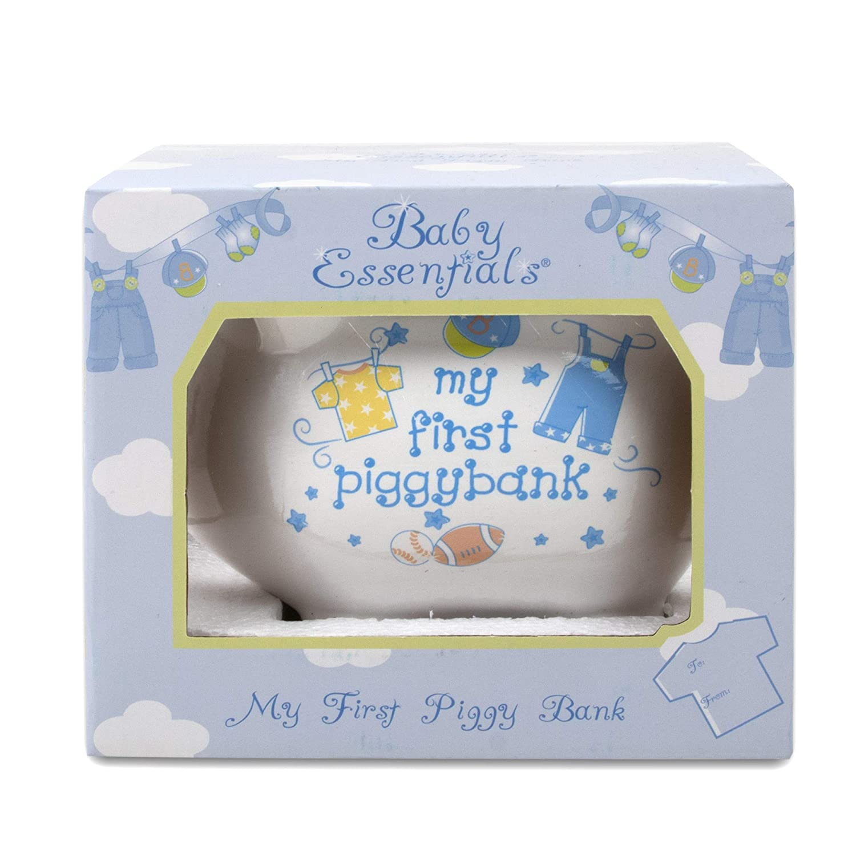 Baby Essentials My First Piggy Bank White/boys