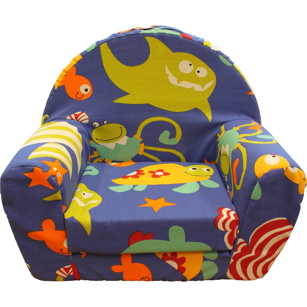 Kid's Foam Chair with Funny Fish and Shark Cover