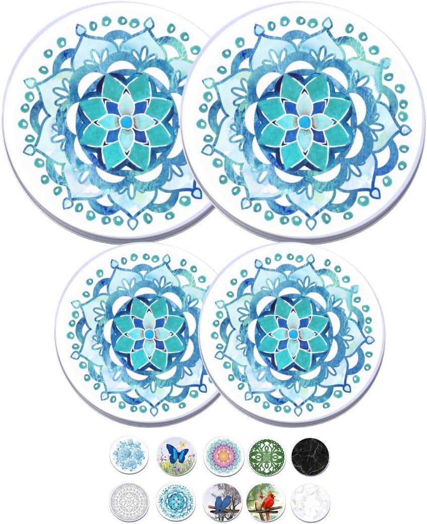 Electric Stove Burner Covers (Blue Mandala)