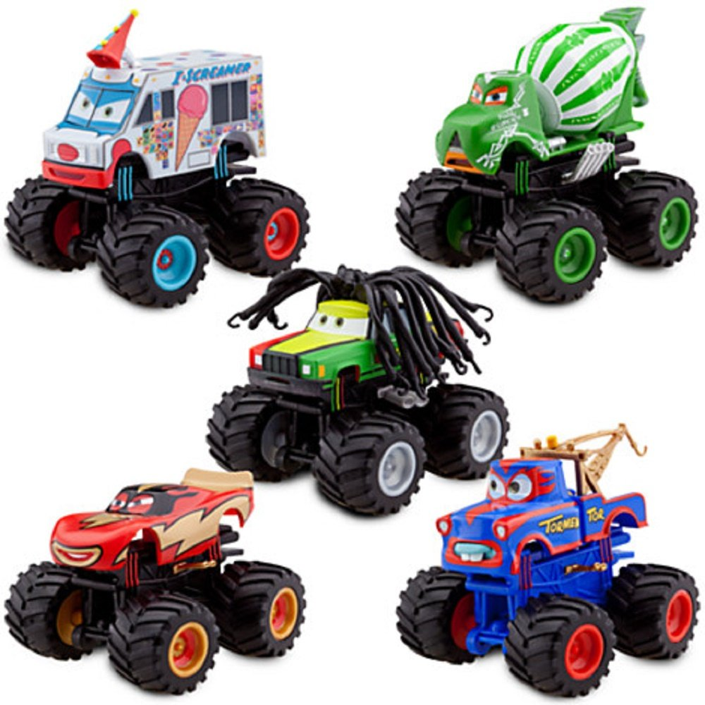 amazoncom disney deluxe monster truck mater figure set toys games - Monster Truck Mater Coloring Page