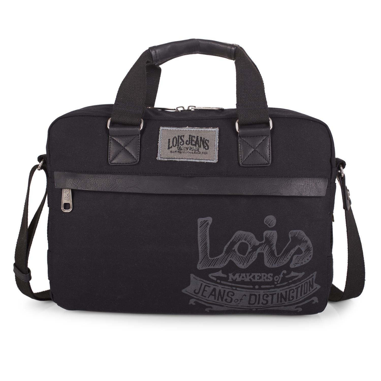 LOIS - Oiled Portadocumentos 15p de hombre Oiled - Canvas, Color Negro 2afa08