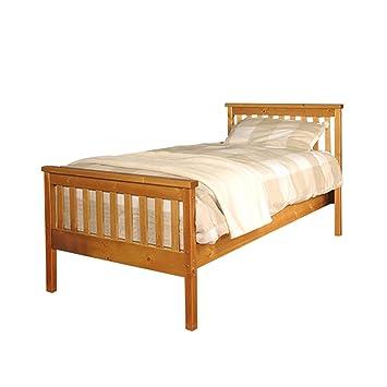 Comfy Living 3ft Single Atlantis Style Wooden Pine Bed Frame in ...