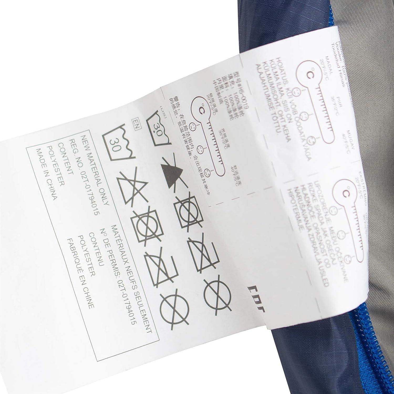 Caminar Active Forever Saco de Dormir de Momia Ligero de Sarga Premium de poli/éster 210T Ideal para Acampar Turismo y Actividades al Aire Libre en Invierno 210 * 80 * 55 cm Azul Real