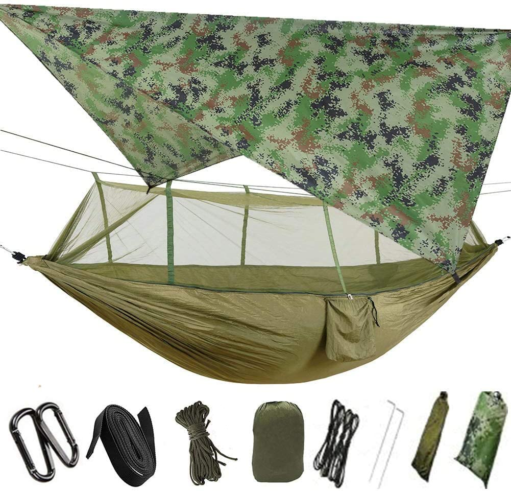 ETROL Camping Rainfly Tarp,Lightweight Ripstop hammock Tarp Cover,Multifunctional Waterproof Picnic Mat or Survival Gear Backpacking Tent Accessories for Yard Waste Shade Rain Outdoor Traveling