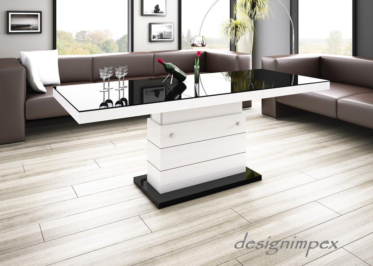 Wohnzimmertisch Schwarz Weis : Design couchtisch matera lux h schwarz weiß hochglanz