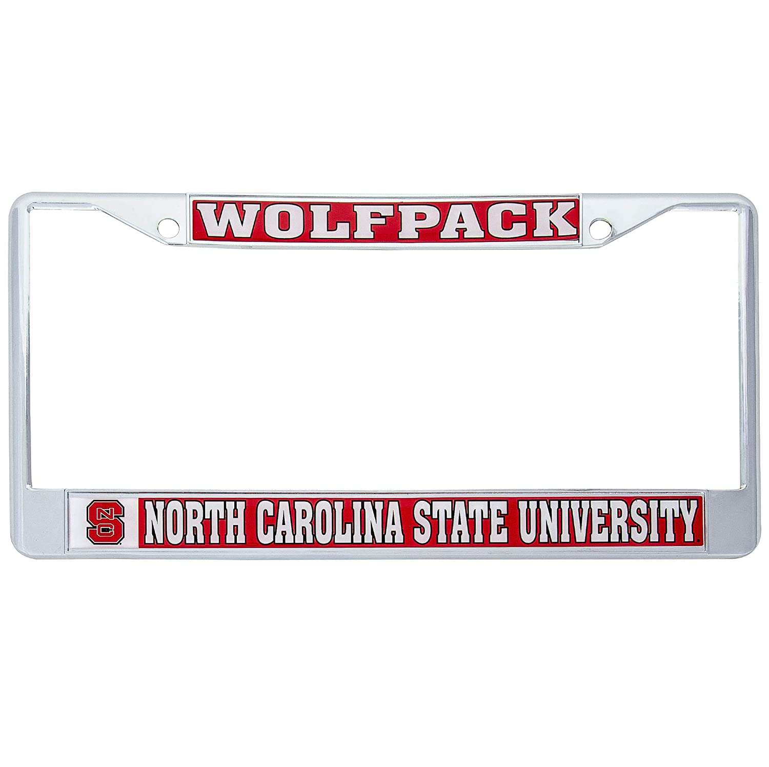 Desert Cactus North Carolina State University Wolfpack Metal License Plate Frame for Front Back of Car Officially Licensed Mascot