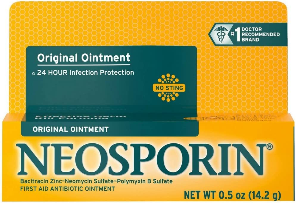 Neosporin Original Antibiotic Ointment, 24-Hour Infection Prevention for Minor Wound, .5 oz
