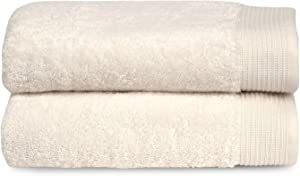 TowelSelections Organic Collection Luxury Towels – 100% Organic Turkish Cotton, Made in Turkey, Ivory, 2 Bath Towels