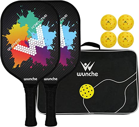 Wunche Pickleball Paddle Set, 2 Palas de Grafito Compuesto de ...