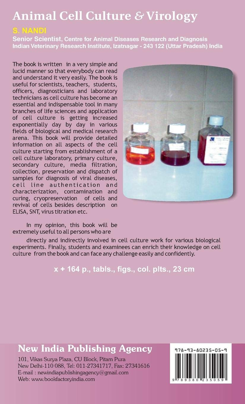 Animal Cell Culture and Virology: S  Nandi: 9789380235059