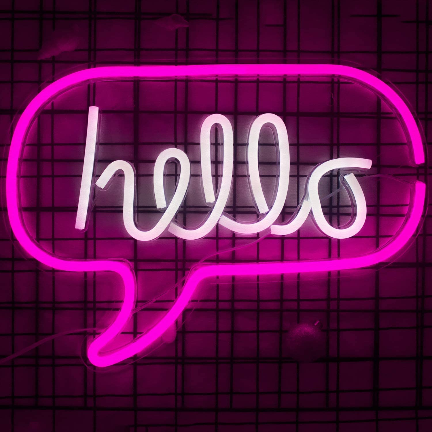 Hello Led Light Neon Word Sign Neon Word Letters Light Kids Room Decor Wall Decor For Baby Room Birthday Party Living Room Wedding Party Supplies 16 9 X12 6 Pink White Hello Amazon Co Uk Lighting