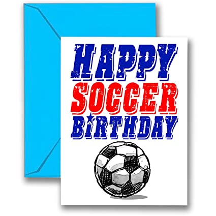 Amazon 3 Pack Soccer Star Birthday Cards 3 Pack 5x7 Play