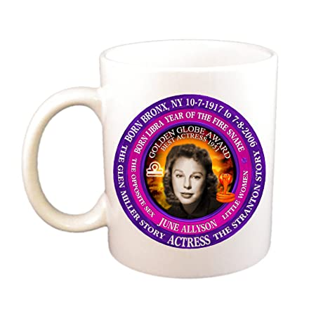 Amazon com | June Allyson Actress Cup, Born Astrology Libra Zodiac