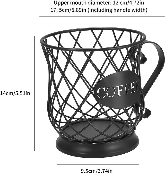 C/ápsulas de Caf/é Adecuadas para Nespresso Hogar Cocina Hotel Negro Soporte Multiusos para C/ápsulas de Caf/é Soporte para Caf/é ONEVER Cesta de Almacenamiento de Caf/é Universal