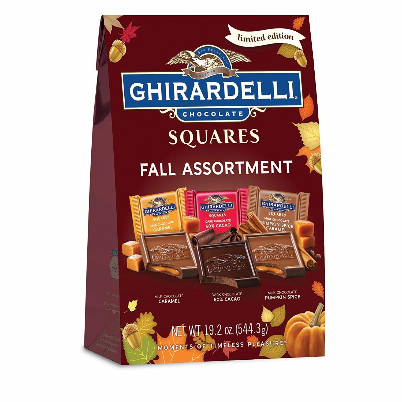 Amazon.com : Ghirardelli SQUARES Premium Assortment Gold, 18.59 oz ...