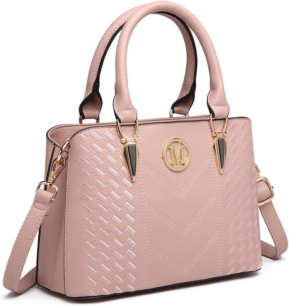 Miss Lulu Damen Handtasche Umhängetasche Shopper Tote Henkeltasche Top-Griff Tragentasche LG6865 (Pink): Amazon.de: Koffer -