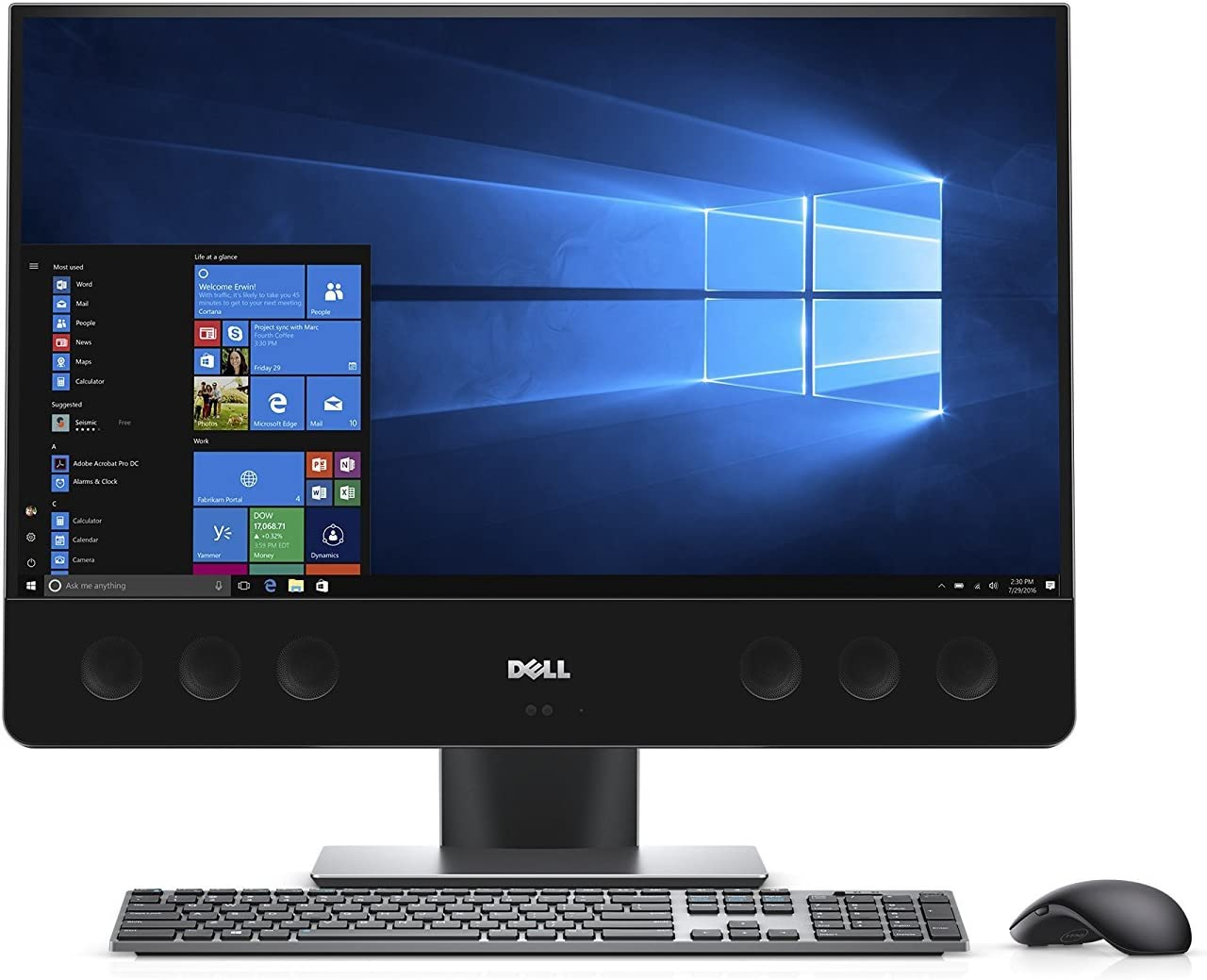 2018 Premium Flagship Dell XPS 27 All-in-One Desktop Computer (UltraSharp 4K UHD Touchscreen, Intel i7-7700 3.6GHz, 16GB RAM, 2TB HDD + 32GB SSD, AMD Radeon RX 570, 802.11ac, Webcam, Windows 10)