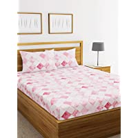 Lorena 100% Cotton Double Bedsheet with 2 Pillow Covers.