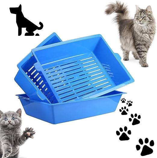 QNMM Caja de Arena para Gatos Grande - Caja de Arena para Gatitos ...
