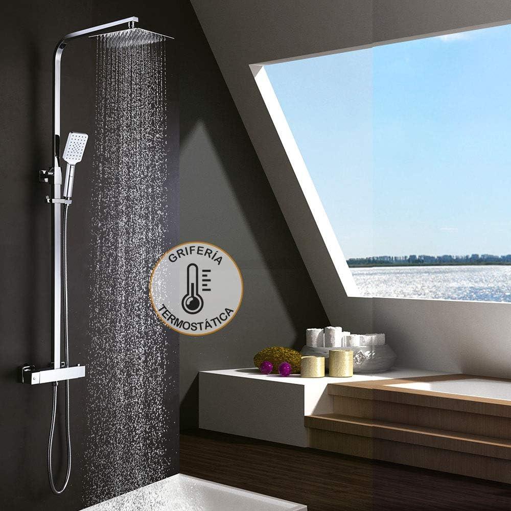 Kibath 407021 Columna termostática EXTRAPLANA de diseño Regulable ...