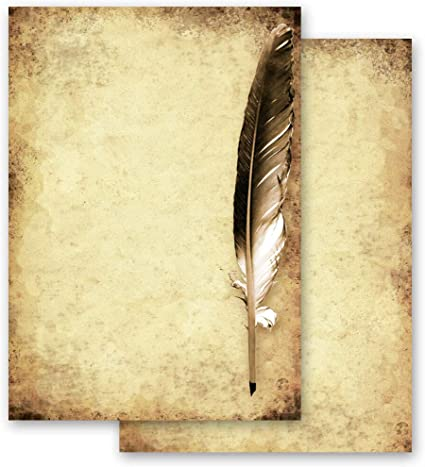 Carta da lettera decorati OLD STYLE 20 fogli DIN A4