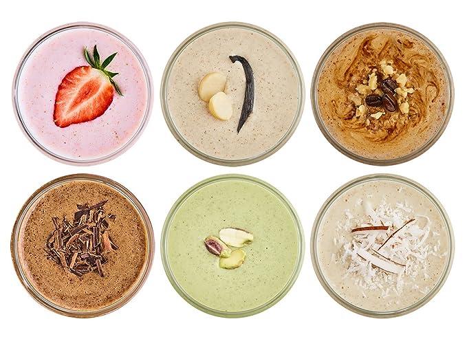 Purition Caja de muestras de batidos de proteínas (6 x 40g). Batido para el desayuno: Amazon.es: Salud y cuidado personal