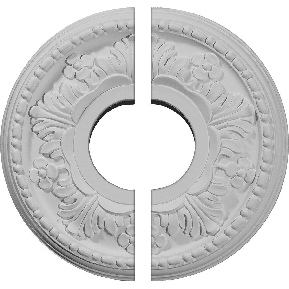 Ekena Millwork CM11HE2 11 7/8''OD x 3 5/8''ID x 7/8''P Helene Ceiling Medallion, Fits Canopies up to 5-1/4'', 2 Piece