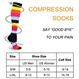 3 Pairs Compression Socks for Women Men 20-30mmhg