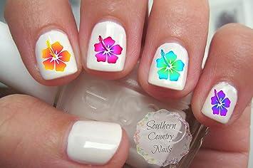 Amazon.com : 40 Hibiscus Flower Nail Art Decals : Beauty