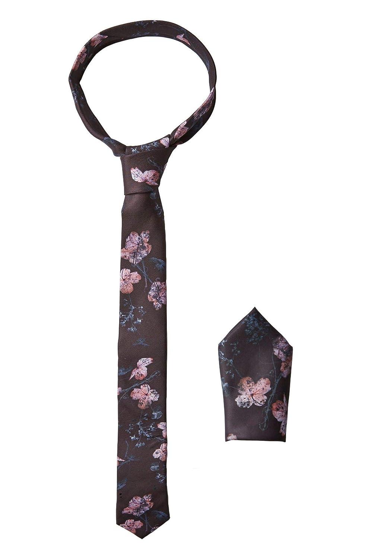 Religion Bewilder - Juego de corbata y bolsillo con estampado ...