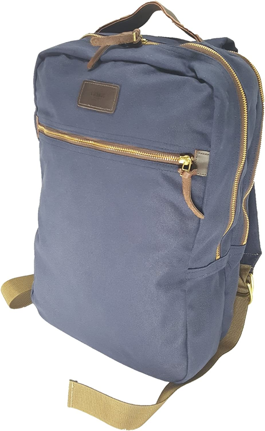 Soho Backpack Canvas with Leather Reinforcement Olive Green