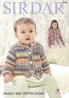 KINGCOLE 4846 BABY CHUNKY KNITTING PATTERN not the finished garments 14-22inch