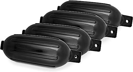 "Marine Premium BLACK 4.5/"" x 16/"" BOAT BUMPERS Dock Fender Cushion Protection 6"