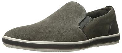 Kenneth Cole REACTION Men's Center Slip on Sneaker Grey 7 M US
