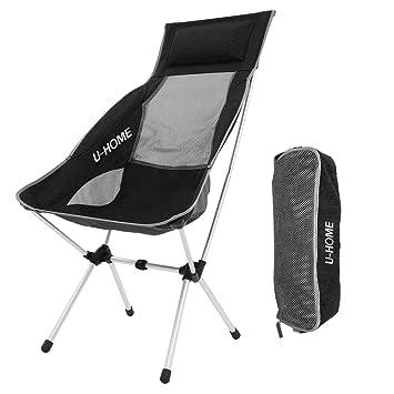 U HOME Chaise Pliante Camping Ultra Lger Aluminium Pour Pique
