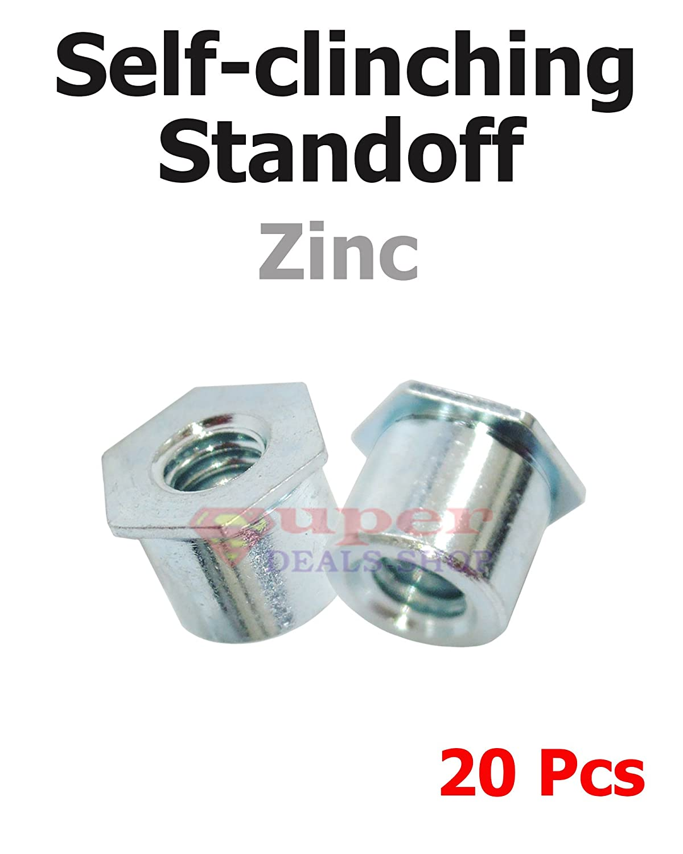 L Steel Self Clinching Standoff #10-32 // 0.28X0.500 Through 100pcs